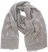 X-C9.1 S004-005 Scarf Small Feathers 70x180cm Grey