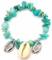 E-C7.1 B2019-046S Bracelet Amazon Stones and Shells Silver