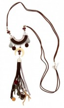 D-E6.1 Long Necklace with Tassels and Charms 80-90cm