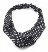S-B5.3 H305-004 Headband Polka Dots Black