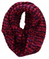 S-E6.2 Knitted Winter Scarf Viscose Pink-Purple