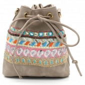 Y-C5.1  BAG012-010 Boho Style Bag Light Brown
