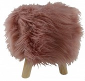 Y-B1.2 ST002-001 Stool with Fake Fur 31x34cm Old Pink
