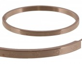 F-B4.10  Stainless Steel Bangle 6x5cm B005-001 Rose Gold Crosses