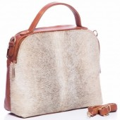 T-O6.2 BAG-902 Luxury Leather Bag 35x30x15cm Brown with mixed color cowhide