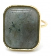F-F17.3 R532-011G Adjustable Ring with Large Stone Gold