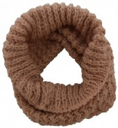 Z-E3.6  Knitted Loop-Col Scarf Old Pink
