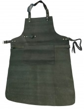 T-J7.3 Leather BBQ Apron 85x65cm Black