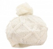 T-J7.1 Beanie with Crystals White
