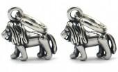 B-D17.3 E2011-001 S. Steel 10mm Earring with 17mm Lion Silver