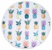 Y-E5.3 BT010-442 Roundie Beach Towel 150cm Pineapples