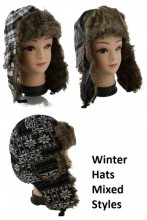 Aviator Winter Hats Mixed Styles 100pcs