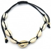 D-D8.1 B2001-020A Bracelet with Shells Gold-Black