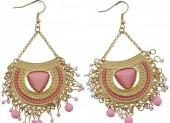 D-E25.7 Earrings Pink Gold 8cm