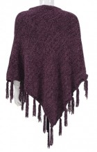 Y-E6.3 SCARF008-004F Scarf with Fringes Purple