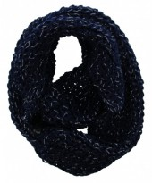 Y-D1.5 Knitted Col With Glitters Viscose Dark Blue