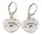 B-E18.3 E426-006 Earrings 10mm with Heart 14mm Silver