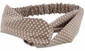 A-C2.2 Headband Polkadots Brown