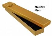 Z-F3.1 PK424-076 Giftbox for Jewelry 21x4xcm Gold 12pcsZ-F3.1 PK424-076 Giftbox for Jewelry 21x4xcm Gold 12pcs