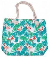 BAG119-002 Beach Bag Flamingo Jungle