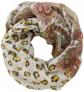 S-F1.4  Loop Scarf with Animal Print Multi Color