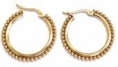 B-B17.4  E2138-002G S. Steel Earrings Balls 2.7cm GoldB-B17.4  E2138-002G S. Steel Earrings Balls 2.7cm Gold