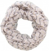 X-H1.2  Loop Scarf with Lines Grey-Orange