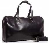 Z-C2.6 BAG-921 Luxury Leather Travel-Sport Bag 47x32x16cm Black