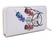 T-K2.2 WA008-006 Wallet with Dreamcatcher and Bull 19x10cm