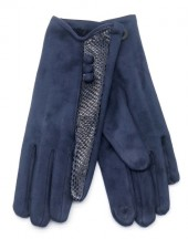 R-H3.1 GLOVE403-093E Glove Buttons and Snake Print Blue