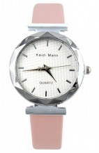 E-C16.2 Trendy Watch with PU Strap Pink 25MM