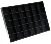 Y-F6.5 Display Box with 24 cabinets 35x24x3cm Black PU