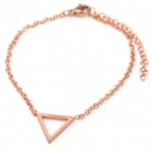 B1759-004 Stainless Steel Bracelet Thick Triangle Rose Gold