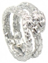 A-D5.3 R519-007S Stainless Steel Ring Snake #19