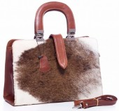 T-C1.1 BAG-570 Luxury Leather Bag 34x24x11cm Brown with mixed Cowhide