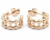 A-C4.4 E001-032RG Stainless Steel Earrings 1cm Rose Gold