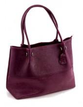 S-E5.3 Luxury Leather Bag 40x30cm Purple
