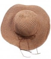 Q-E7.2 HAT504-003A Woven Hat Brown