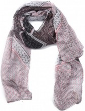 X-I9.2 SCARF507-10B Scarf Dots and Anchors 180x90cm