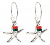C-D5.8 E2019-034S Earrings Starfish 1.5x3cm Silver