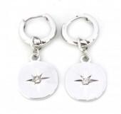 E-C7.1 E304-008 Metal Earrings Northern Star Silver