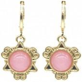 D-B19.5 E532-001G Fantasy Earrings Pink-Gold