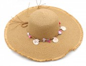 Q-I6.1 HAT315-001 Hat with Shells Brown