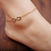 A-C17.4 Anklet Infinity Gold