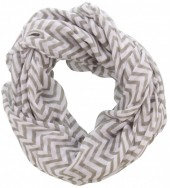X-D8.1  Loop Scarf with Lines Grey