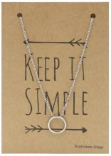 N1759-001 Stainless Steel Necklace Cirle Silver