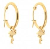 E015-012C Stainless Steel Earring 16mm Flamingo Gold