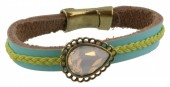 C-A15.1 Leather Bracelet with Crystal 20cm