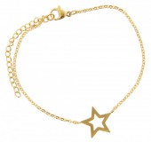 D-A15.9  Stainless Steel 18-23cm Gold B099-004A Star