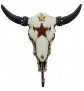 Coat Hanger Skull 21x21cm White